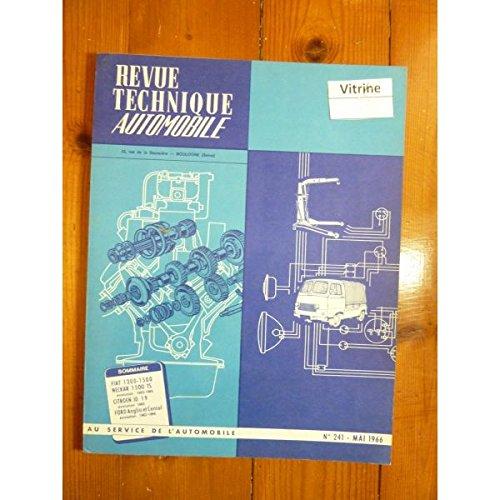 RTA0241 - REVUE TECHNIQUE AUTOMOBILE FIAT 1300-1500 NECKAR 1500 TS 1963-65 CITROEN ID19 1965 FORD ANGLIA et CONSUL 1963-65