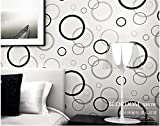 HNZZN Modernen minimalistischen Stil personalisierte Mode Wohnzimmer Kreis Kreis TV-Kulisse Schlafzimmer Vliestapeten, 18101, 53 CM X 10 M
