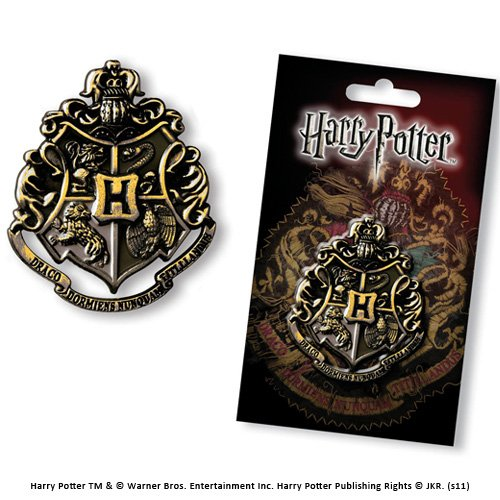 Harry Potter Hogwarts Crest Gunmetal Pin Badge (accesorio de disfraz)