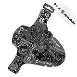 Riesel Design Schlamm:PE STICKERBOMB ULTRABLACK 2017 Schutzblech Spritzschutz Fahrrad Vorderrad Federgabel