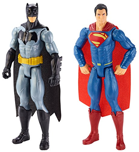 Batman vs Superman Figures 12 Inch, Pack de 2 (Mattel DLN32)