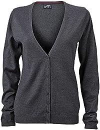 Ladies V-Neck Cardigan - taillierter Damen Cardigan mit V-Neck JN660