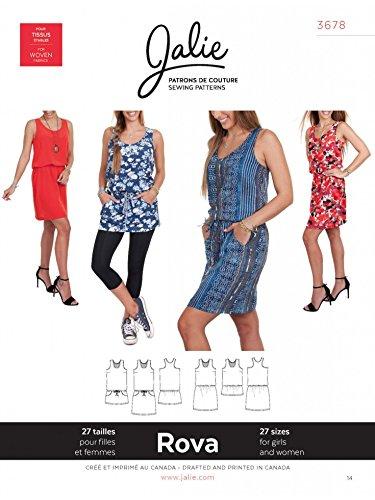Blouson Tunika (Jalie Damen und Mädchen leicht Schnittmuster 3678, Rova Blouson Tank Kleid & Tunika)
