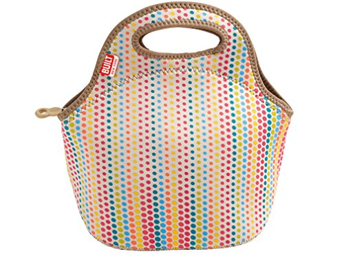 built-ny-gourmet-getaway-candy-dot-neoprene-lunch-tote-bag-plastic-multi-colour