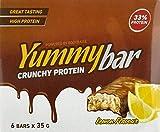 Bodyraise YummyBar Crunchy Proteinriegel 6x35g - Ergänzung mit Zitronengeschmack und mit Protein Aufgeladen - Arm an Kalorien & Fett - Hilft, Gewicht zu Verlieren - 6 Portionen