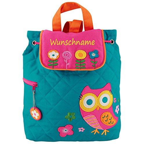 Rucksack Kindergartentasche mit Namen bedruckt Motiv Eule