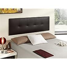 Cabecero de cama tapizado en polipiel mod. poppy 52x180 cm
