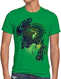 style3 Absinthe T-Shirt Homme absinth alcool bar party heure verte
