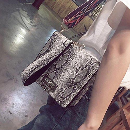 Coccodrillo Modello Spalla Borsa, Moda Donna Borsetta Spalla Borsa Messenger Grande Tote Leather Signore Borsa by Kangrunmy Grigio