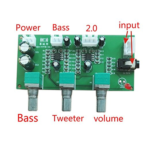 Aiyima Tone Board Digital Amplifier DIY Dual Tweeter Bass Volume Control Tone Single Power With Panel