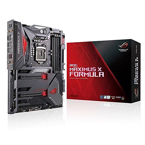 Asus ROG MAXIMUS X FORMULA Scheda Madre Gaming ATX, Intel Z370 con Dissipazione a Liquido, LED RGB Aura Sync, DDR4 4133 MHz, Wi-Fi 802.11ac, Doppio M.2 e USB 3.1 Gen 2, Nero