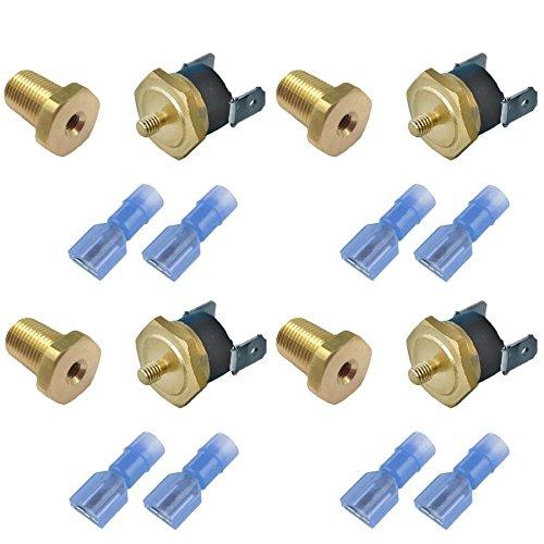 Preisvergleich Produktbild 'American V 4er Pack 160' F Lüfter des Heizkörper Thermostat Schalter 1 / 4 Zoll elektrisch Temperaturfühler