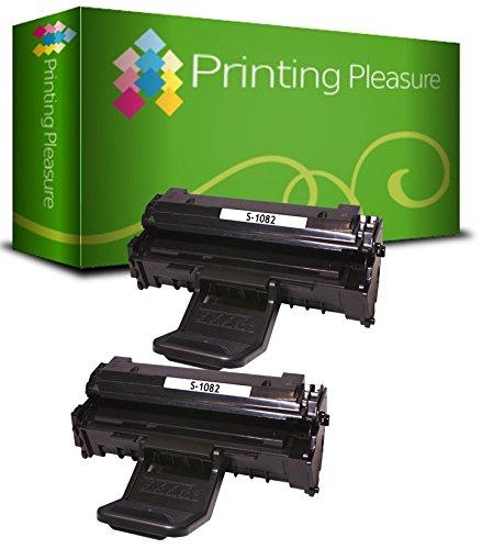 Printing Pleasure 2 Compatibles Cartuchos de tóner para Samsung ML-1640 ML-1641 ML-1642 ML-1645 ML-2240 ML-2241 - Negro, Alta Capacidad