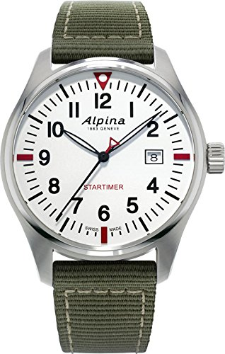 Alpina Geneve Startimer Pilot AL-240S4S6 Reloj de Pulsera para hombres Legibilidad Excelente