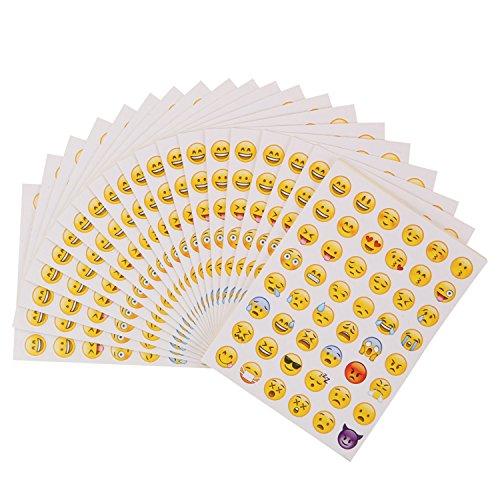 emoji aufkleber 40 Blätter Emoji Aufkleber für Handy Laptop Notebook Dekoration | Lustige Whatsapp Facebook Emoticon Deko für Briefe Geschenkkarten | Smiley Spielzeuge für Kinder | Beyond Dreams