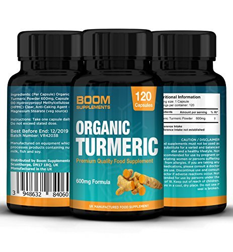 Turmeric 600mg Max Strength | 120 Organic Turmeric Capsules | 4 FULL Month Supply | Fat Loss, Anti-Inflammatory & Natural Antioxidant | Powerful Curcumin Absorption | Safe And Effective | Best Selling Anti-oxidant Pills | Manufactured In The UK! | 30 Day Money Back Guarantee (packaging may vary)