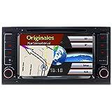 "A-Sure 7"" Zoll DVD GPS Autoradio 3G Wifi DAB+ RDS Sat Navi FM AM Bluetooth USB Navigation VMCD für VW Touareg original Kartematerial (49 europäische Länder) Z6W8Q"