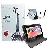 Aldi Medion Lifetab S10346 / S10333 Eifelturm Tablet Hülle Tasche mit Aufstellfunktion - Paris 10.1 zoll
