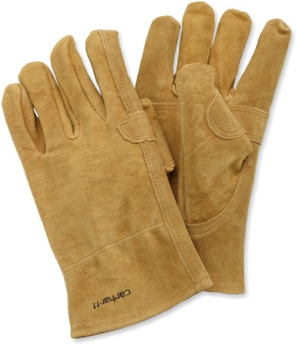 Carhartt Men's Leather Fencer Work Glove, Brown, Medium -