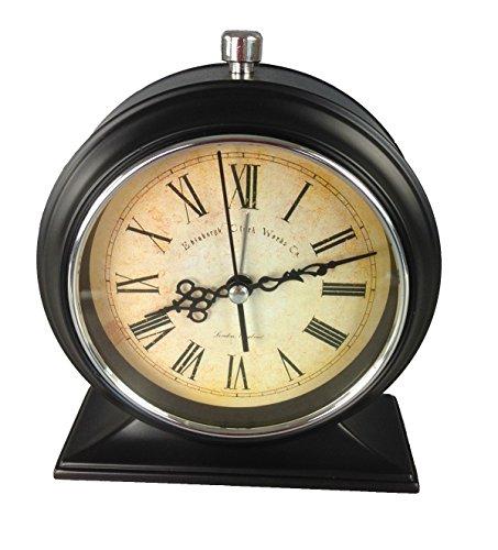 GMMH Tischuhr Nostalgie Antik Vintage Retro Metall Standuhr Wecker Uhr Design (14-10)