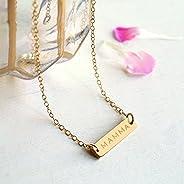 Collana personalizzata con barra d'oro per la Festa della Mamma MAMMA, MAMA, MUM o M