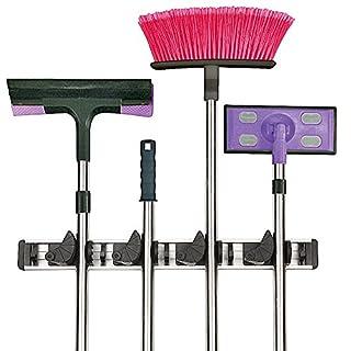 Gerätehalter, Werkzeugleiste für 8 Geräte, Garten Werkzeug Geräte Halter Leiste, Besen Halter, 1003