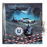 Goldbuch Tagebuch, Polizei, 96 weiße Seiten, Mit Schloss, Schwarz/Blau, 44061