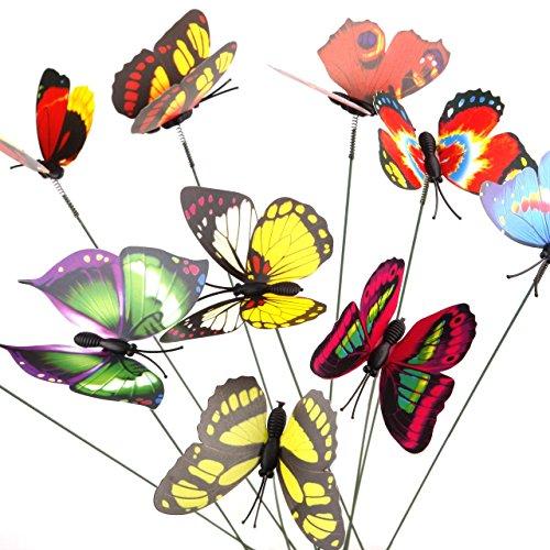 Zhuotop Papillons sur bâtons à la mode Décoration Maison Simulation Couleur aléatoire.
