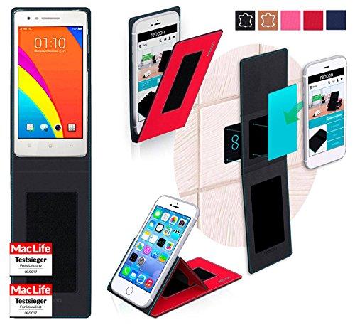 reboon Hülle für Oppo Mirror 3 Tasche Cover Case Bumper | Rot | Testsieger