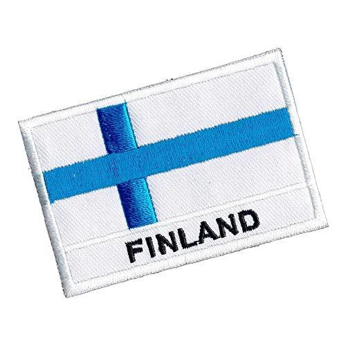 Parche/Iron on Patch/FahnenMax-Bandera/Bandera/banderín/Banner-Finlandia