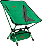 Trekology Portable Camping Chairs with Adjustable Height - Compact Ultralight Folding Backpacking Chair with a Carry Bag, Heavy Duty 135 KG Capacity, Great for Hiker, Camp, Beach, Fishing, Outdoor