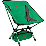 Trekology YIZI GO Portable Camping Chair with Adjustable Height - Compact Ultralight Folding Backpacking Chairs in a Carry Bag, Heavy Duty 300 lb Capacity, for Hiker, Camp, Beach, Fishing, Outdoor