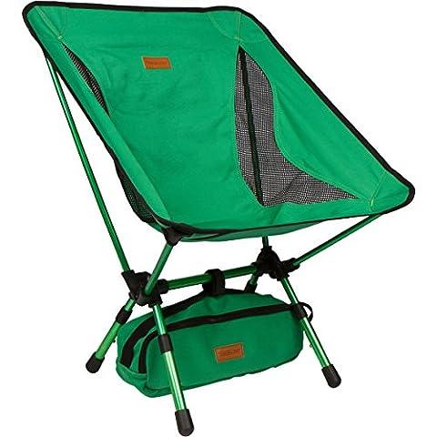 trekology kompakter tragbarer Camping-Stuhl mit verstellbarer Höhe – Ultraleichtwandern-Stuhl in einer Tasche für Camping, Angeln, Picknick, Terrasse, Sport, Events, (Hunter Outdoor-stuhl)