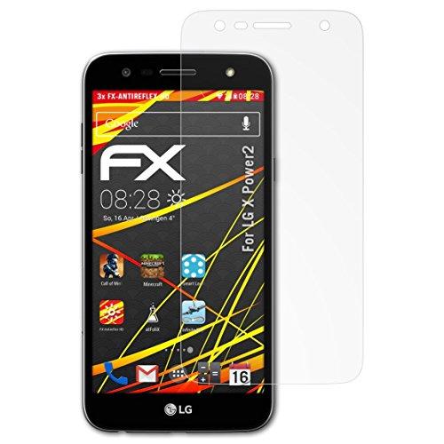 atFolix Schutzfolie kompatibel mit LG X Power2 Displayschutzfolie, HD-Entspiegelung FX Folie (3X)