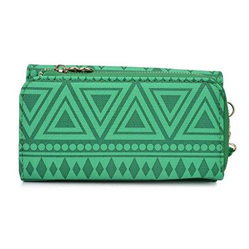 Kroo Pochette/étui style tribal urbain pour HTC One M9/Desire 612 Multicolore - Noir/blanc Multicolore - vert