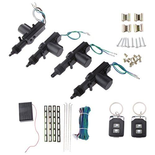 MagiDeal Auto Zentralverriegelung Verriegelung Sicherheitssystem Keyless Kit mit Fernbedienungen