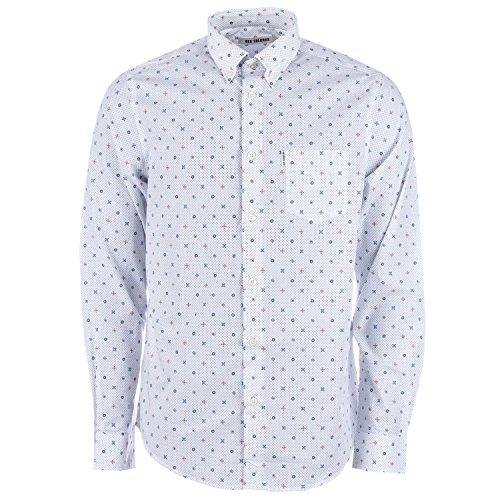 Ben Sherman Herren Freizeit-Hemd Weiß gebrochenes weiß Gr. L, gebrochenes weiß (Ben Sherman-hemd)