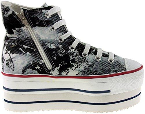 Maxstar  CN9-8H,  Damen Sneaker Low-Tops Printed-Black