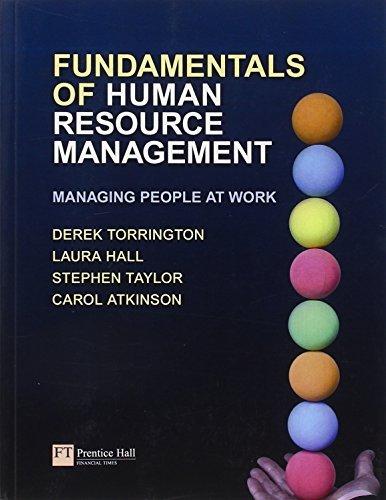 Fundamentals of Human Resource Management: Plus MyManagementLab Access Code: Managing People at Work by Derek Torrington (2009-09-04)