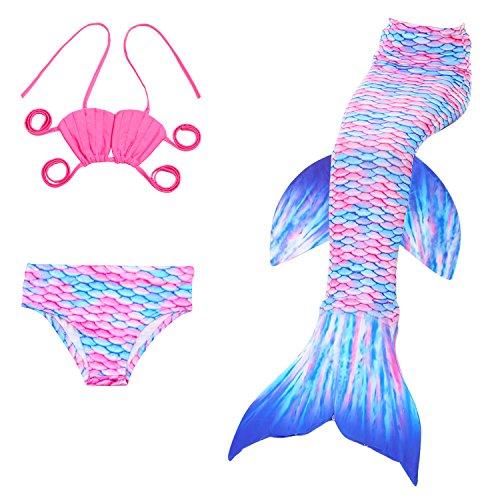 Das Beste Mädchen Meerjungfrau Muschel Form Bikini Kostüm Schwimmanzug Badeanzüge Tankini Bademode Badeanzüge Meerjungfrauenschwanz Schwimmen Freien (High Cut Schwimmen Kostüme)