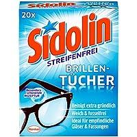 Sidolin Brillenputztücher, 4er Pack (4 x 20 Stück)