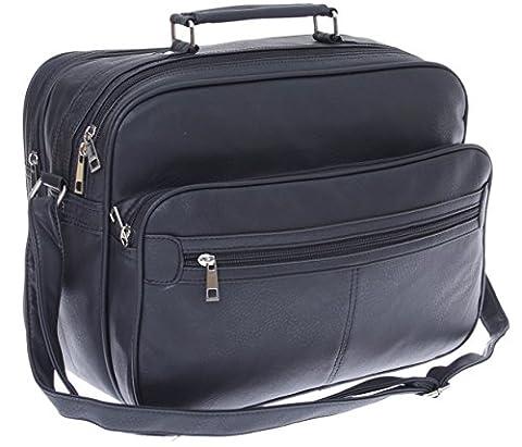 XL Arbeitstasche,Herren Umhängetasche, Schultertasche, Reise-Tasche, Männer Leder Optik, * SONDERPOSTEN *
