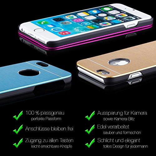 iCues AL43 Ultra Slim Alu Case für Apple iPhone 4/4S türkis