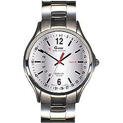 Garde' Uhren aus Ruhla Funkuhr mit Saphirglas Herrenuhr 230-26M Tag/Datum