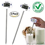 CASON--Pack Of 2-50 °C to + 300 °C Digital Thermometer Probe for Kitchen Cooking Thermometre Temperature For Food Liquid Thermometer Meat Barbecue BBQ Laboratory Factory