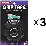 """Unique Tennis Racquet Over Grip Gauze Tape-Black-1"""" by 30 Ft-Badminton (3-Pack)"""