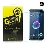 HTC Desire 12 Protection D'écran, Desire 12 Film verre trempé [Revêtement anti-traces de doigts, anti-rayures] Film Protection D'écran pour HTC Desire 12[Lot de 2]