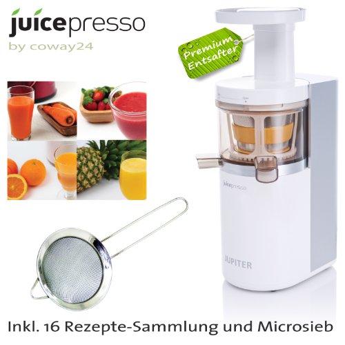 JuicePresso Premium Entsafter - schonend, geräuscharm, Strom und Platzsparend - Jupiter von Coway