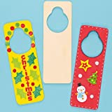 Baker Ross Türanhänger aus Holz für Kinder zum Bemalen, Gestalten und Personalisieren - (6 Stück)