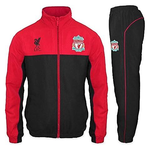 Liverpool FC - Herren Trainingsanzug - Jacke & Hose - Offizielles Merchandise - Geschenk für Fußballfans - Rot - (Mannschaft Locker)